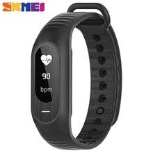 Skmei b15p mujeres hombres digital relojes de pulsera pulsera de la presión arterial monitor de ritmo cardíaco reloj de la aptitud deportes de moda los relojes de alarma