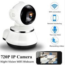 Домашняя охранная ip-камера Беспроводная смарт-камера с Wi-Fi аудио запись наблюдения детский монитор HD мини камера видеонаблюдения 720 p