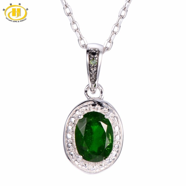 Hutang natural chrome diopside green diamond gemstone pendant hutang natural chrome diopside green diamond gemstone pendant solid 925 sterling silver jewelry aloadofball Images