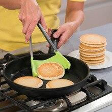 2 в 1 Умный кухонный шпатель и щипцы антипригарный термостойкий каркас из нержавеющей стали силиконовые щипцы кухонный гаджет