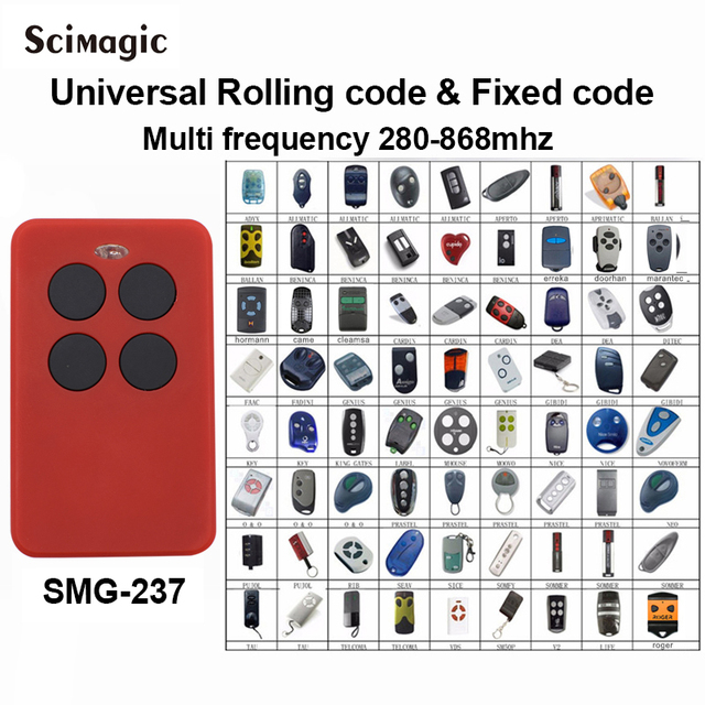 Auto-Scan 280mhz - 868mhz Multi Frequency brand rolling code remote control duplicator receiver universal gate remote command