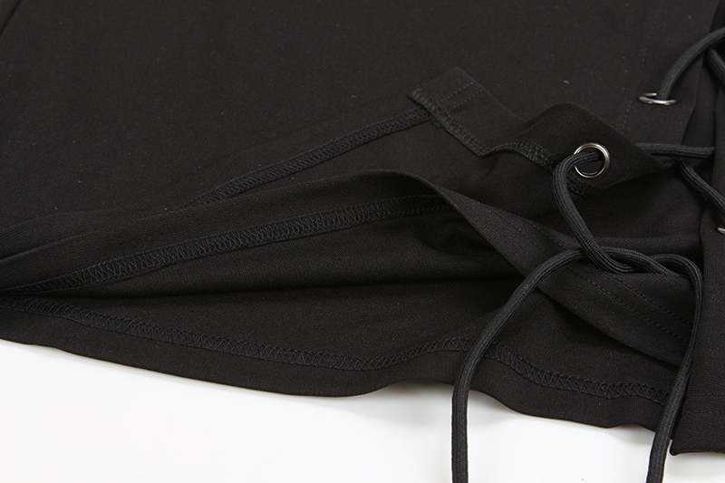 BONGOR LUSS Spring Summer Women Skirts 2017 Fashion New Lace Up Casual Girls Skirts Solid Split Up Pencil Mini Black Sexy Skirts (16)