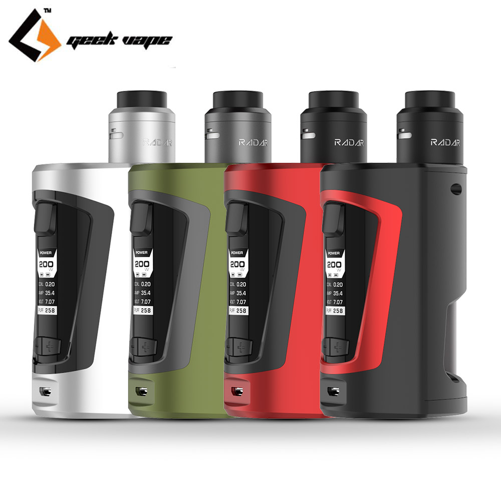 Original Geekvape GBOX Squonk Kit with 200W GBOX Squonker Box Mod Vape and 8ml Squonk Bottle Radar RDA Tank original geekvape gbox squonk kit with 200w gbox squonker box mod vape and 8ml squonk bottle radar rda tank