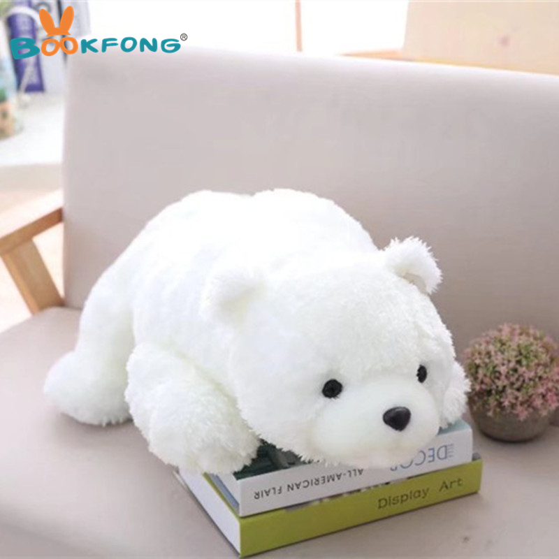 58/88cm Lovely Polar Bear Plush Toy Stuffed Animal Toy Soft White Brown Bear Pillow Kids Birthday Gift Home Decor bath decor bear animal fabric shower curtain