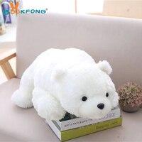 58/88cm Lovely Polar Bear Plush Toy Stuffed Animal Toy Soft White Brown Bear Pillow Kids Birthday Gift Home Decor