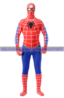 Superhero Red and blue Cool Spiderman costume spiderman suit spider man Lycra adult spider Man Cosplay