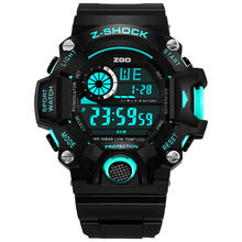 ZGO Digital Wristwatches Sport Watches For Men Water Resistant Swim LED Display Electronic Watch Men Top Brand 2017 HOT SALE