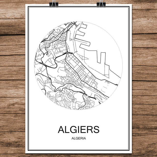 World City Street Map Belgrade Serbia Print Poster Abstract Coated