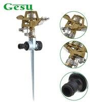 Gesu 360 Degree Automatic Rotating Nozzle Lawn Garden Irrigation Adjustable Range Sprinkler Rocker Nozzle Water Drippers