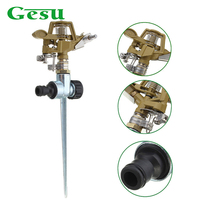 Gesu 360 Degree Automatic Rotating Nozzle Lawn Garden Irrigation Adjustable Range Sprinkler Rocker Nozzle Water Drippers