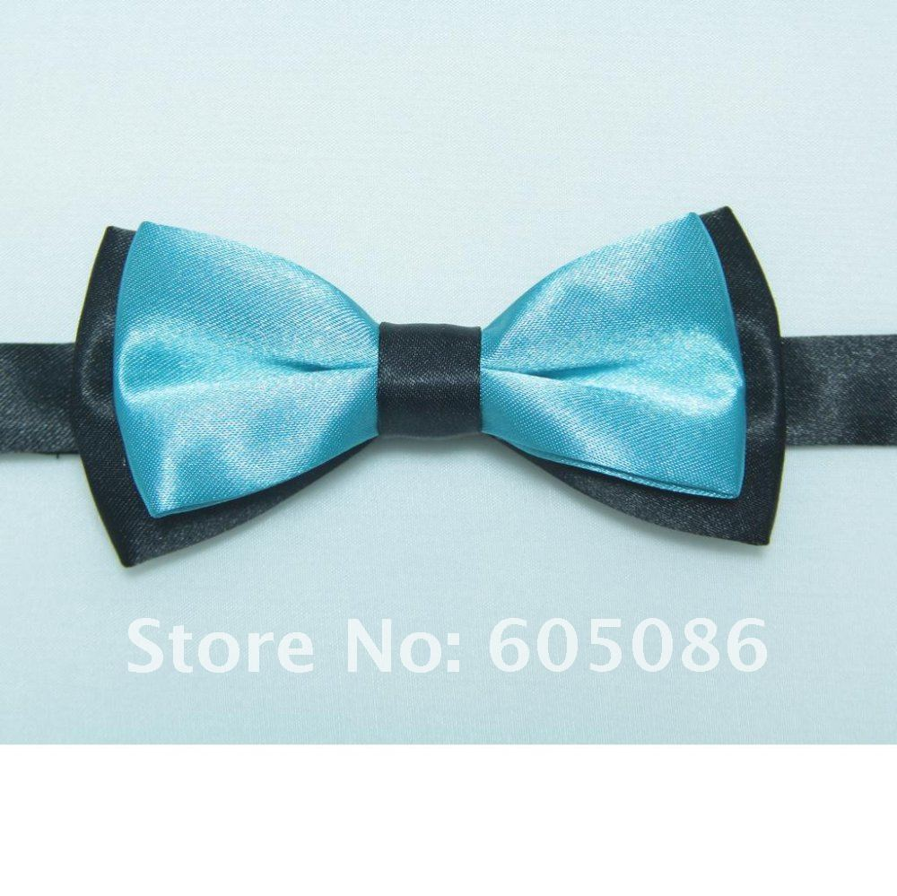 HOOYI 2019 New Boy's Polyester Bow Ties Kids' Bowtie Turquoise Blue Necktie Butterfly