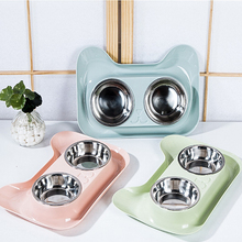 Pet Products Stainless Steel Bowl Cat Dog Puppy Travel Feeding Feeder Tool Food Double Tableware
