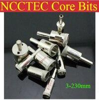 225mm 8.8 ''inç NCCTEC Elektrolize Elmas çekirdekli matkap uçları ECD225 ÜCRETSIZ kargo | ıSLAK cam seramik kaplama araçları
