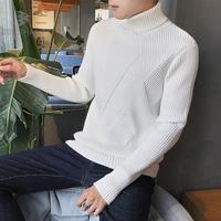 ZEESHANT Winter Thick Warm Cashmere Sweater Men Turtleneck Brand Mens Sweaters Slim Fit Pullover Men Knitwear