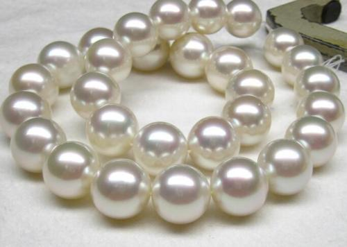 HUGE 18inch 12-13mm natural south sea GENUINE white ROUND pearl necklace HUGE 18inch 12-13mm natural south sea GENUINE white ROUND pearl necklace