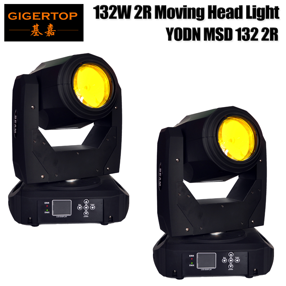 2 Pack 2R Head Moving Light Total 180W Rotating Moving Head DMX512 Sound Activated Master-slave Auto Running 16/20 Channels