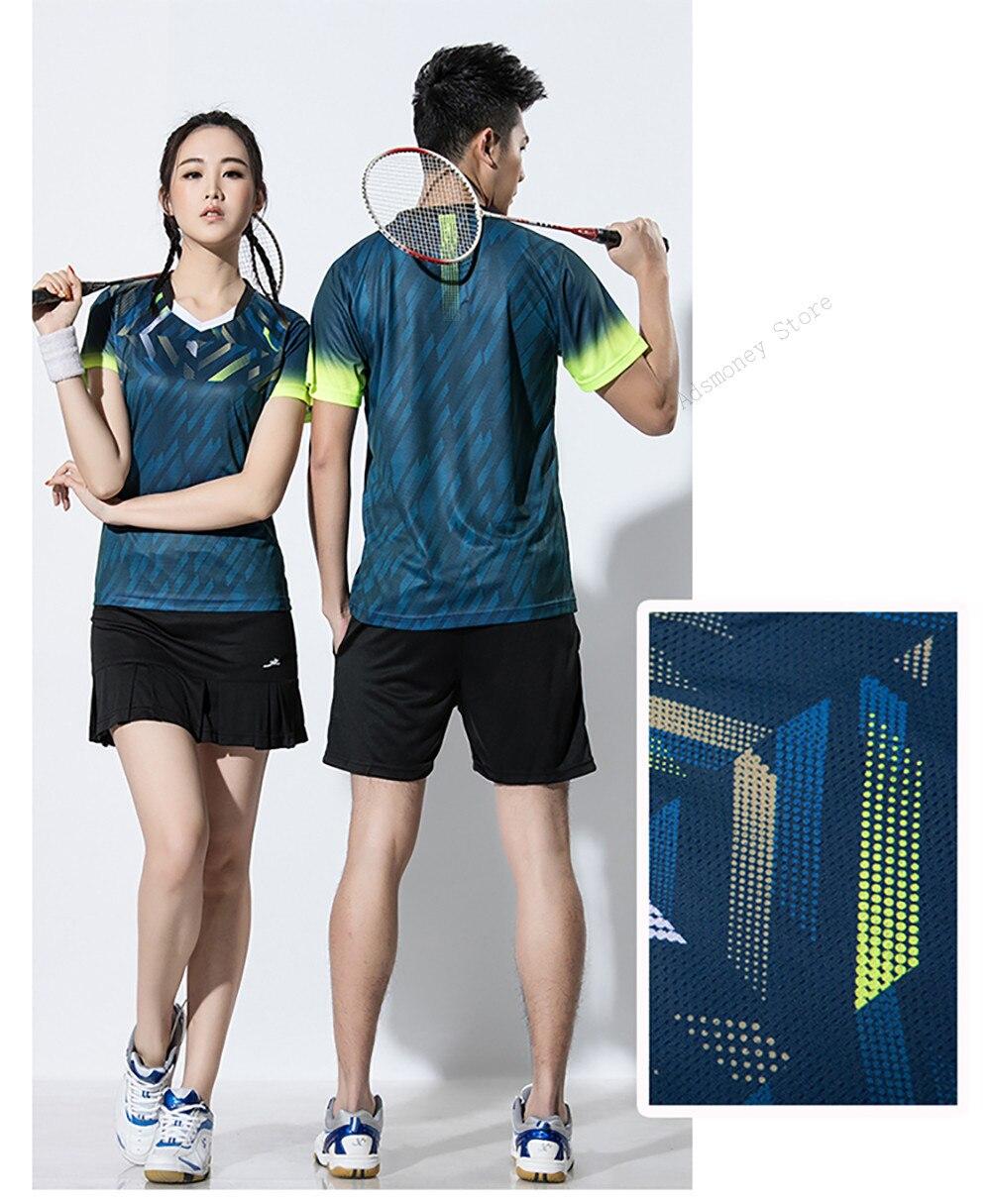 Uniformes Roupas De Tênis Badminton Respirável Camisetas & Shorts