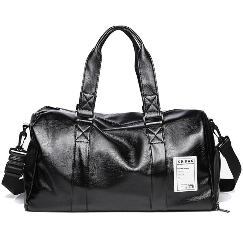 Men Travel Duffle Bag Waterproof Leather Business Handbag Shoulder Bag For Women Large Capacity Weekend luggage Travel Bags