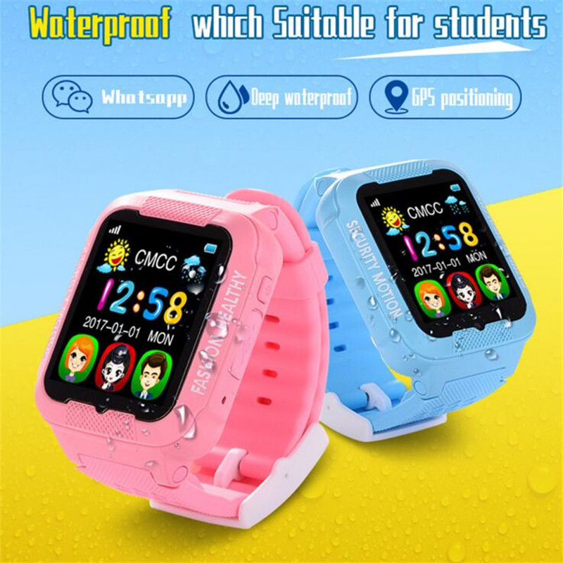 2 5D Touch Screen GPS Smart font b Watch b font Wristwatch SOS Call Location Finder