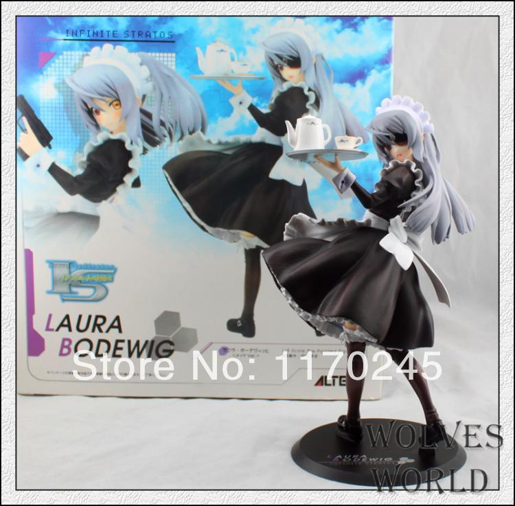 Free shipping Anime Infinite Stratos IS action firure Laura Bodewig waiter styling IS PVC figure 21cm sexy girls anime figures 46cm infinite stratos ceilia alcott action figure bunny version doll pvc figure toy brinquedos anime