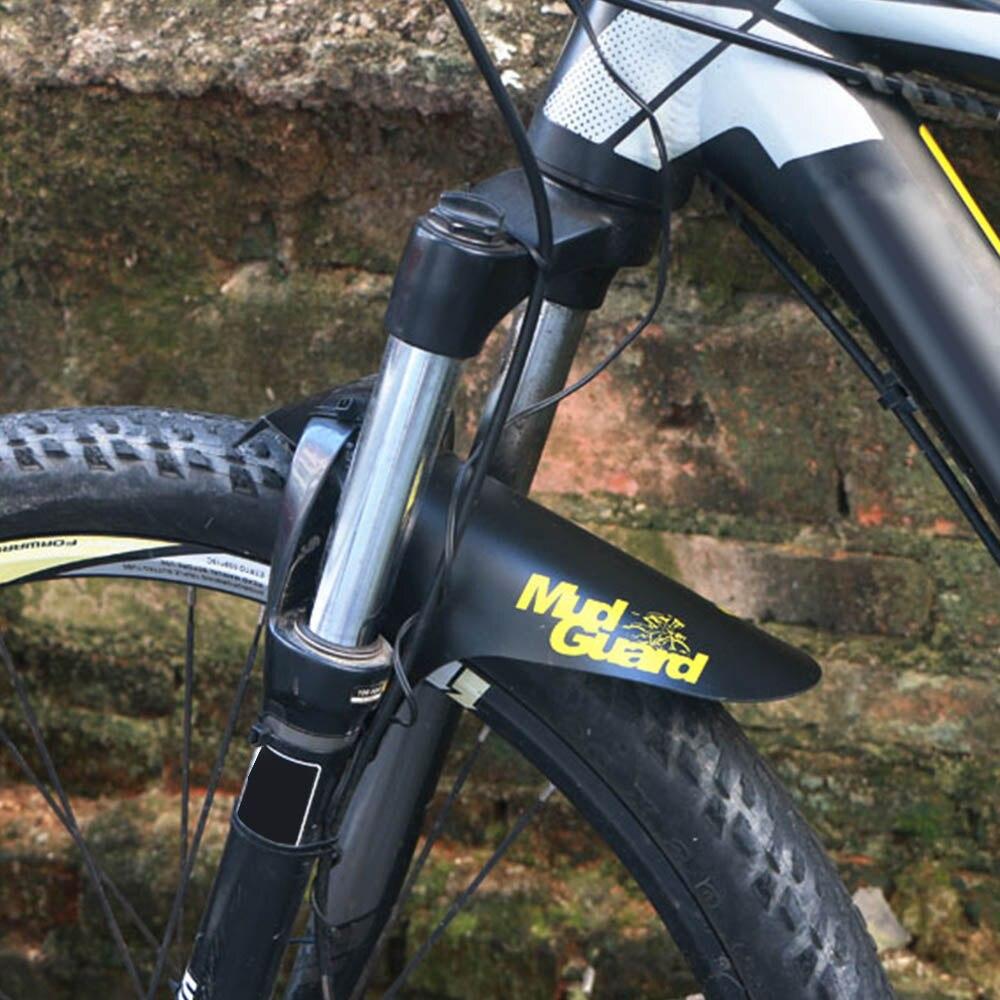 ขายร้อนจักรยานกันชนพลาสติกที่มีสีสันด้านหน้า/ด้านหลัง Mudguard MTB BIKE ปีก Mud GUARD ขี่จักรยานอุปกรณ์เสร...