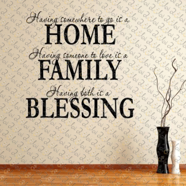 home family blessing english letters vinyl wall decals quotes peel and stick vinyl wall stickers quotes