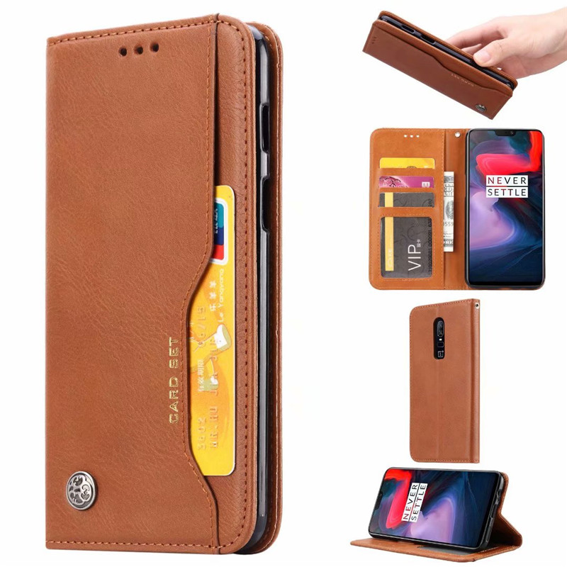 For Oneplus 6 <font><b>6T</b></font> 7 Luxury High Quality Wallet With Card Slot Magnetic Flip <font><b>Cover</b></font> <font><b>Leather</b></font> Case For <font><b>One</b></font> <font><b>Plus</b></font> 7T Pro Phone Cases image