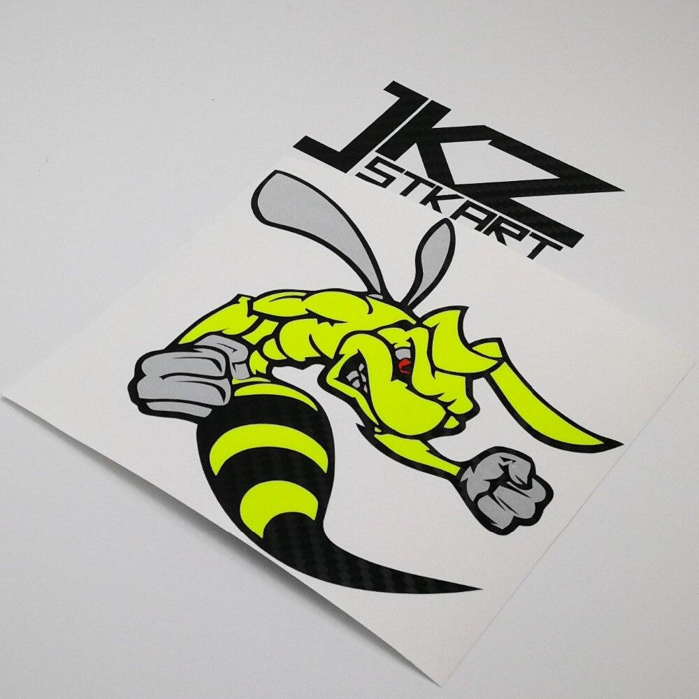 JKZ STKART Cartoon Angry Super Bee Vinyl Die Cut Stickers Decals ATV Motor Bike Truck Helmet Decorated Stickers