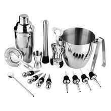 16pcs Cocktail Bar Set Stainless Steel Shaker Practical Bartender Kit