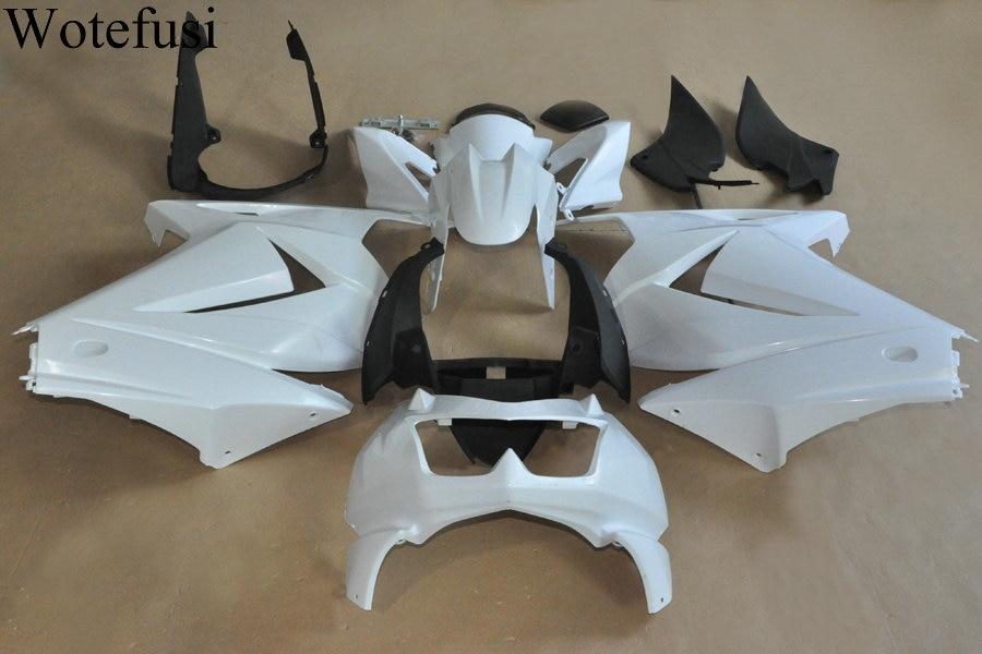 Wotefusi ABS Injection Mold Unpainted Bodywork Fairing For Kawasaki Ninja 250R 2008 2009 2010 2011 2012 [CK1054]