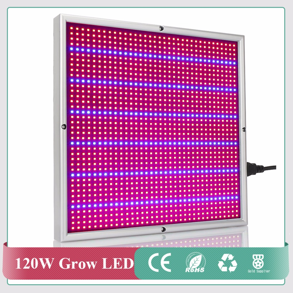 120W LED Plant Grow Lamps Red+ Blue 1365pcs SMD2835 Full Spectrum LED Grow Light for Garden Flowering Hydroponics Horticulture