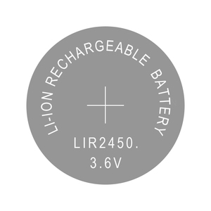 Image 2 - Lithium Button Cell Li ion Rechargeable Battery LIR2450 3.6V 10 PCS   2450 Replaces CR2450