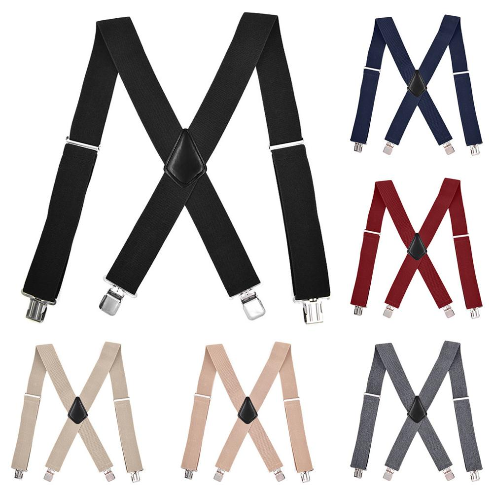 Shirt Stays Cross Braces Women Men's X-Back Shirt Holders Adjustable Shirt-Stay Clip Suspenders Cintura Camicia Dropshipping C