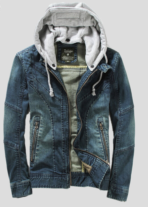 Denim Hooded Jean Jacket | Jackets Review