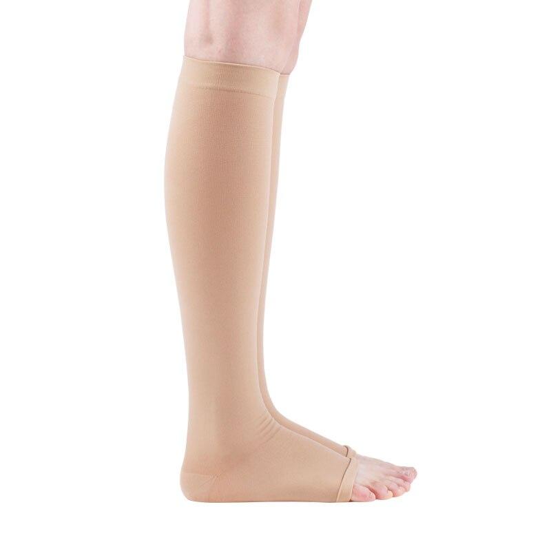 Cofoe Спецодежда медицинская варикозное расширение вен Носки для девочек стрейч спандекс носок защиты теленок 2 Класс 23-32mmhg Давление пара для ... ...