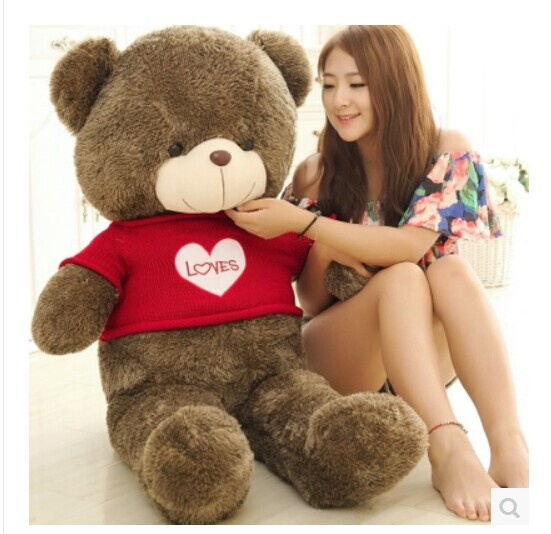 large 100 cm loves bear plush toy stuffing cotton teddy bear doll ,throw pillow gift w3704 the lovely bow bear doll teddy bear hug bear plush toy doll birthday gift blue bear about 120cm