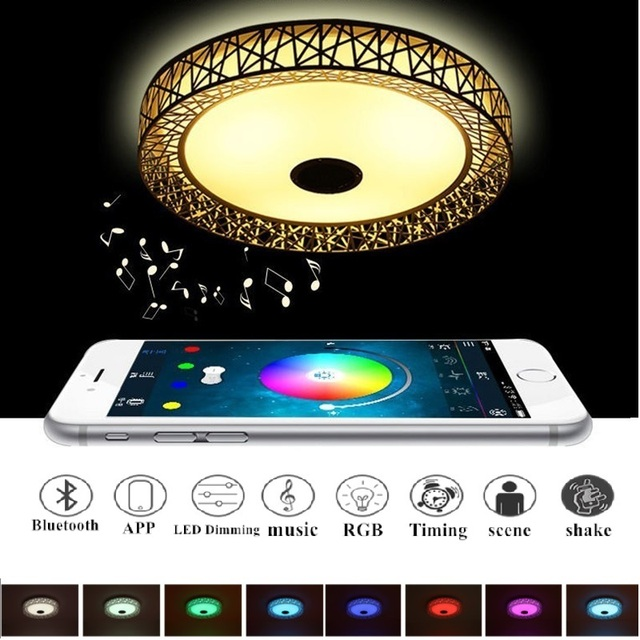 APP LED Ceiling Lamps Bluetooth Music Colorful Ceiling Light Luminaria LED Remote Control With Bluetooth Lamp Lamparas De Techo