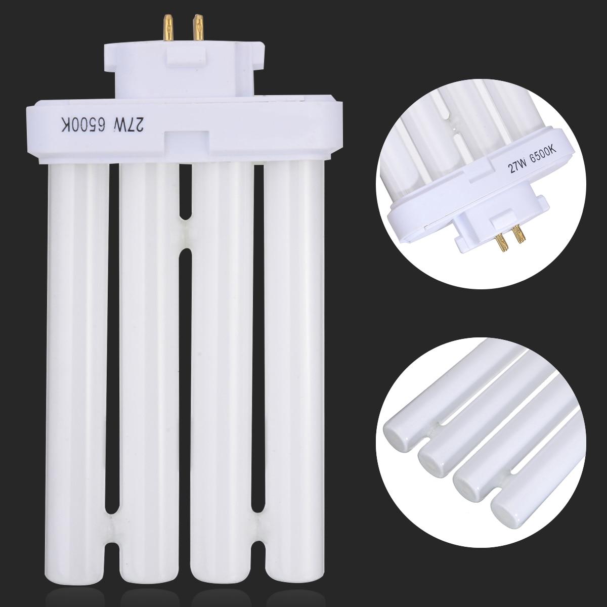 27W FML27/65K Energy Saving Light High Efficient 4 Pin Quad Tube Fluorescent Light Bulb Lamp Pure White Lights