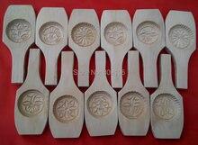 1 pçs mid-autumn festival lua bolo molde mão-esculpida de madeira biscoito molde ferramentas de cozinha