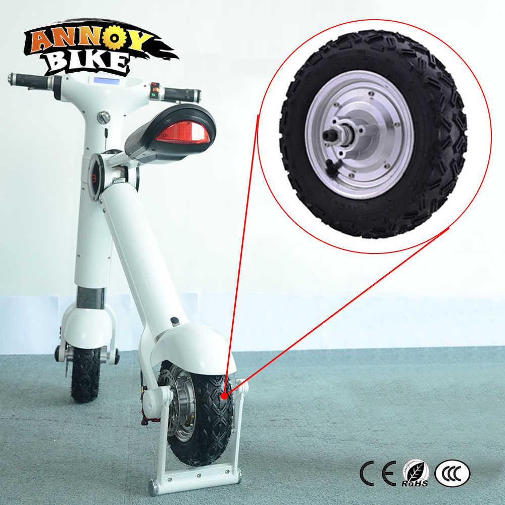 Hub Motor 10 ''48 v 350 watt 800 watt Ebike bicicleta electrica Stick Rad Elektrische Roller Hub Motor Rad mit 10x4. 0-6 reifen