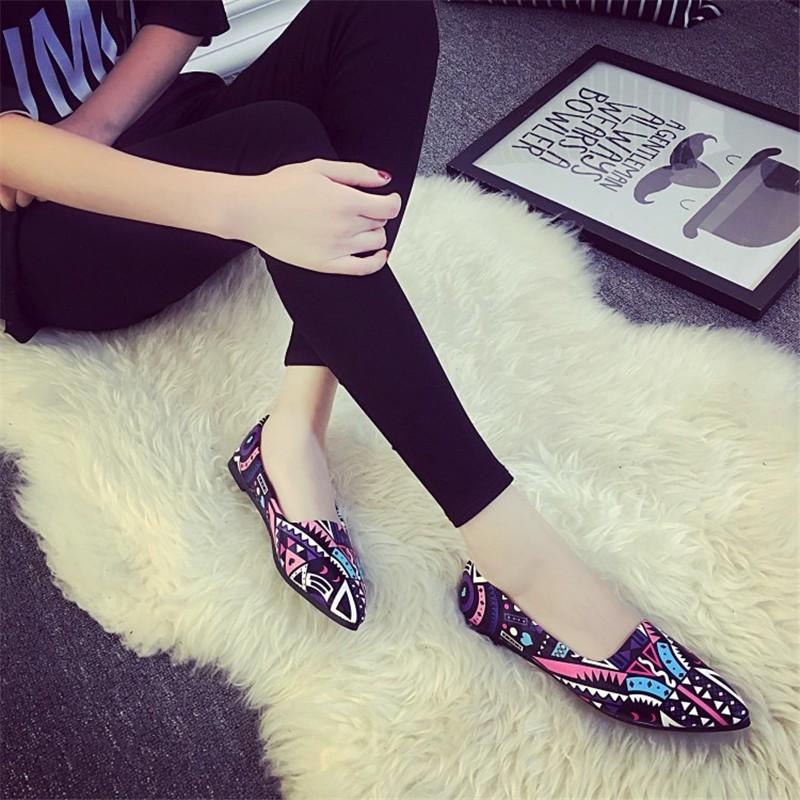 2016 Summer Fashion Hot Style Blue Patchwork shoe High Quality Casual Lazy shoe Women Flat shoe HSC14 (8)
