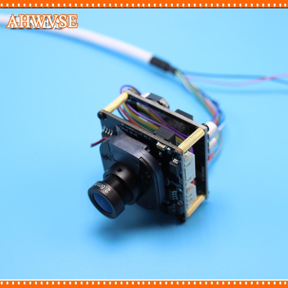 AHWVSE Multi-language 2MP Mini Dome PoE IP Network Camera Module Full HD 1080P with LAN Cable
