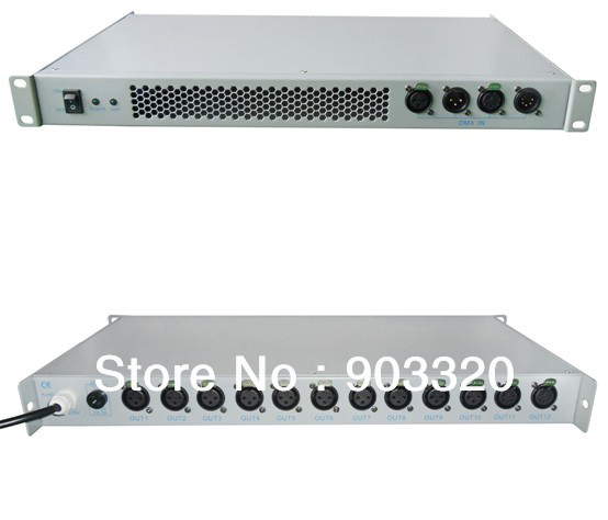 HOT SALE 12 Channel 12 Port Output DMX Splitter DMX512 Signal Amplifier For DJ Equipment Stage