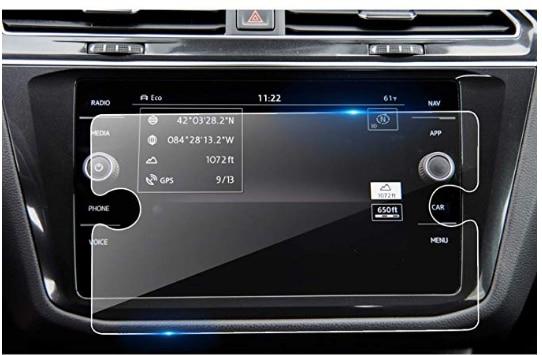 Değiştirme için 2018 2019 Volkswagen Tiguan 8 Inç Temperli Cam Araba Navigasyon Ekran Koruyucu, [9 H] Bilgi Ve Eğlence Merkezi Dokunmatik
