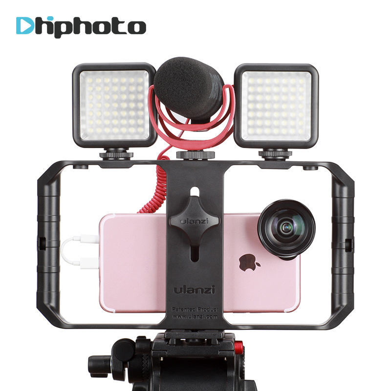Ulanzi Smartphone Video Rig Case Filmmaking Recording Vlogging Gear for iPhone X iPhone 7 Plus Android Videomaker