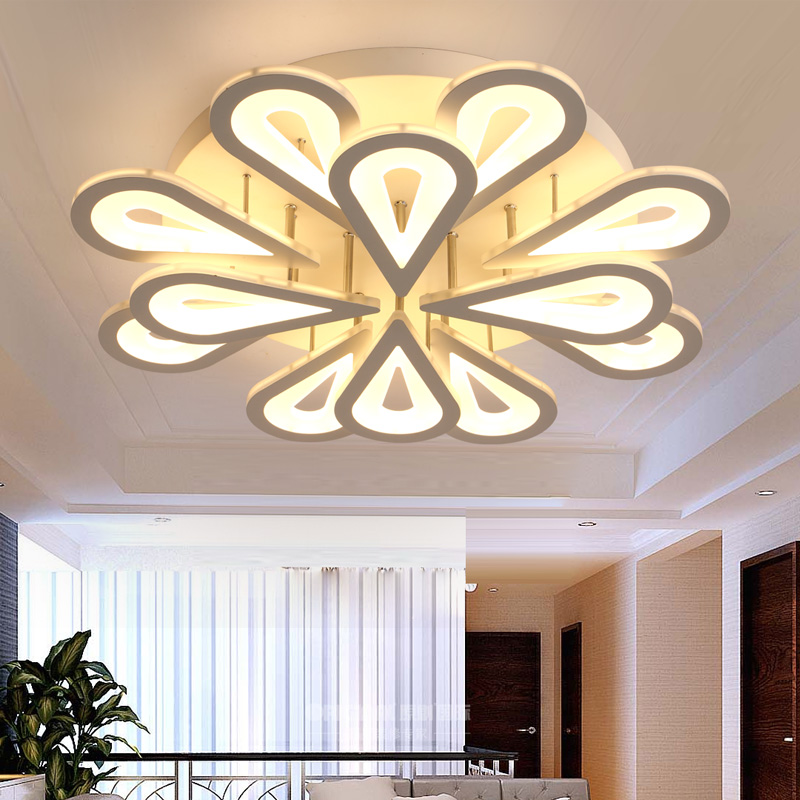 AC90~260V Acrylic Ceiling Lights Modern lamparas de techo Home decoration For Badroom Living Room Ceiling Lamp Led plafonnier noosion modern led ceiling lamp for bedroom room black and white color with crystal plafon techo iluminacion lustre de plafond