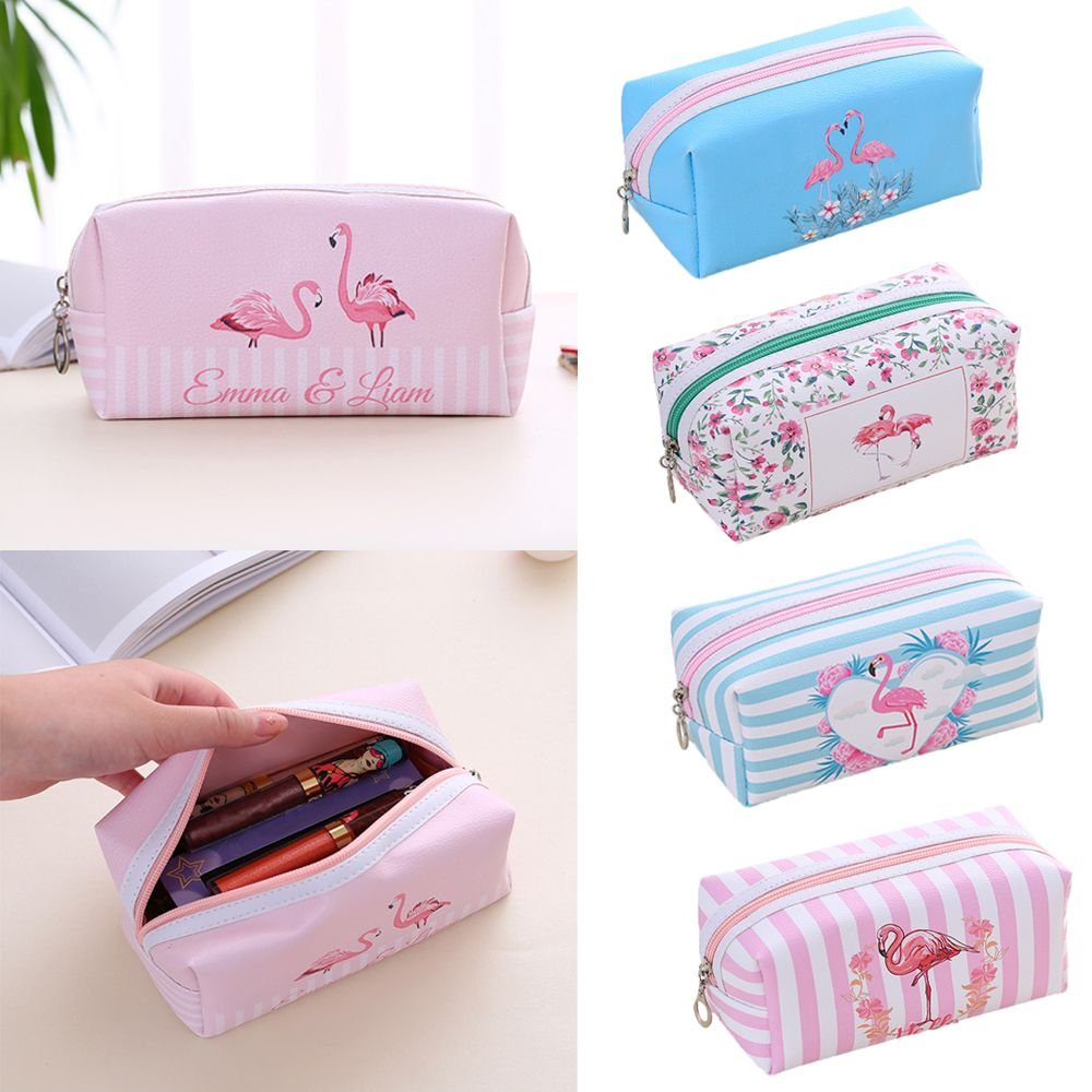 Fashion Women Flamingo Unicorn Printed Makeup Pouch Cartoon Unicorn Cosmetic Bag Toiletry Organizer Handbag Female Make Up Bags unicorn 3d printing fashion makeup bag maleta de maquiagem cosmetic bag necessaire bags organizer party neceser maquillaje