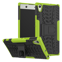 For Sony Xperia XA1 Ultra 6.0' Case Hybrid Kickstand Dazzle Rugged Rubber Armor Hard PC+TPU Stand Function Shockproof Case 10pcs