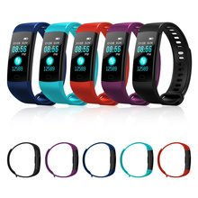 hot deal buy y5 smart band watch color screen wristband heart rate activity fitness tracker smartband electronics bracelet pk xiaomi miband 2