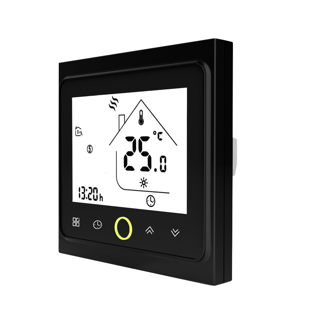 Smart Thermostat Temperature Controller Electric Water Heating Thermostat with Touchscreen LCD Display Temperature Controller